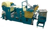 Taglierina con doppio svolgitore, aggancio automatico e 1 gruppo stampa flessografico