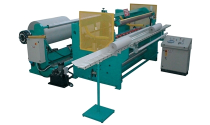 Slitter rewinder machine for paper plotter rolls and vinyls and microperforated paper - TB
