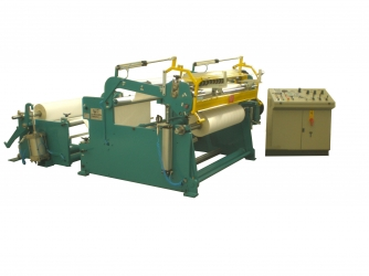 Slitter rewinder converting machine for paper rolls reel to reel - TRML