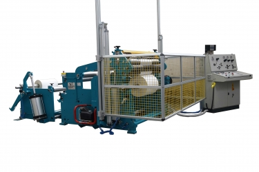 Slitter rewinder converting machine for paper rolls reel to reel - TRMMP
