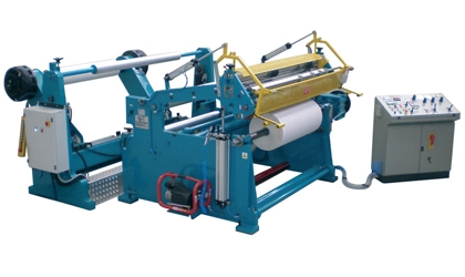 Slitter rewinder converting machine for paper rolls reel to reel - TRM