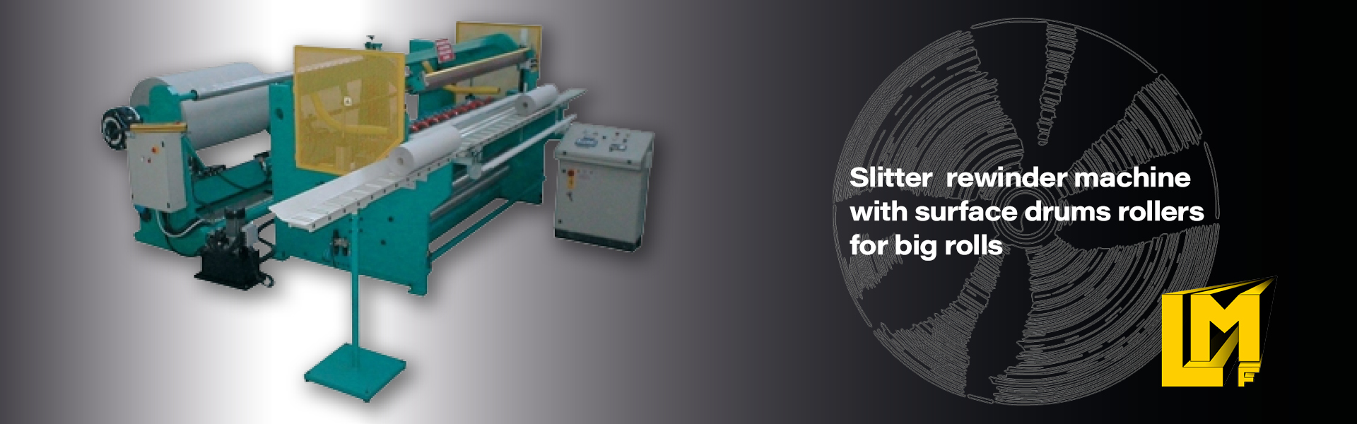 Slitter rewinder machine for paper plotter rolls and vinyls
