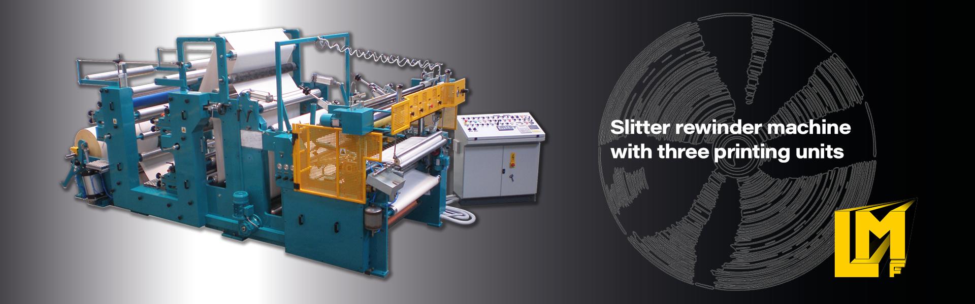 Slitter rewinder for cash register thermal paper rolls, POS ATM