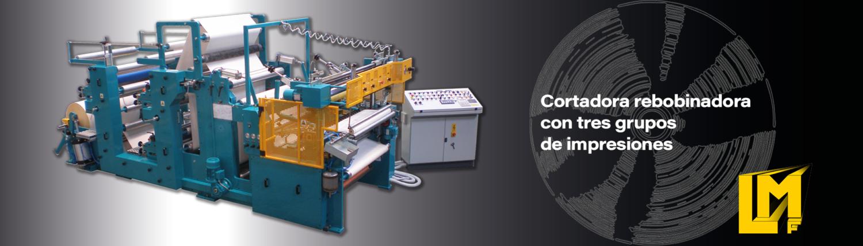 Cortadoras Rebobinadoras para rollos de papel - TRLA3C - La Meccanica