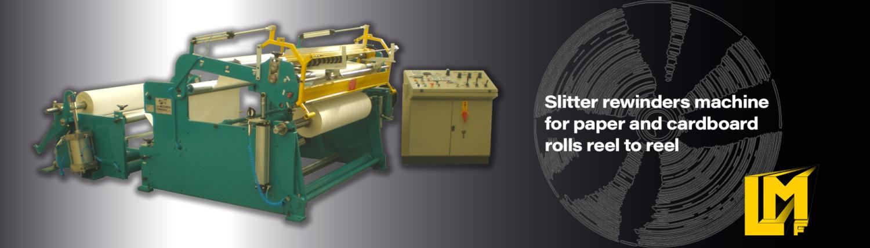 Cortadoras Rebobinadoras para rollos de papel de bobina a bobina